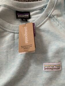 Patagonia Bnwt P6 Label Ahyna Crew Sweatshirt Medium Atoll Blue