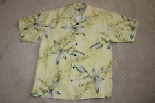 Tommy Bahama Men's 100% Silk Short Sleeve Hawaiian Shirt Size Medium