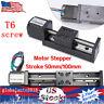 2 Typs CNC Slide Stage Actuator Stepper Stroke T6 LeadScrew Linear W/ Motor USUS