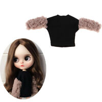 Fashion Plush Sleeve Pullover Outfit for Blythe Takara Licca Dolls Clothes