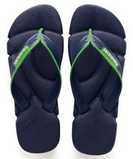 Havaianas Men`s Brazilian Flip Flops Power Sandals Navy Blue White Any Size NWT
