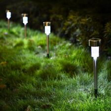 10x Solar Power LED Stake Lights Patio Outdoor Garden Lawn Path Lamp Cool White