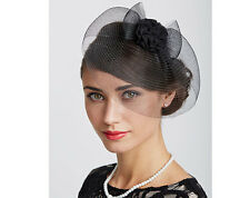 fascinator ascot wedding races headband royal hair occasions black hat weddings