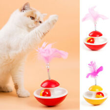 1PC Spring tumbler Cat Tumbler toy Feather bell Creative Funny supplies Cute