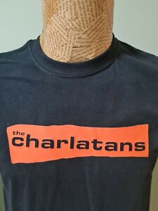 The Charlatans black T-Shirt Mens Unisex the band Some Friendly