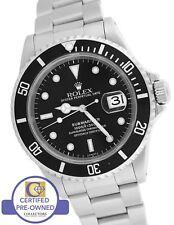 2000 Men's Rolex Submariner Date Stainless Black 16610 A 40mm Swiss Dive Watch