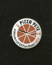 "1972 U-88 Pizza Pete Unlimited Hydroplane 2 1/4"" Button"