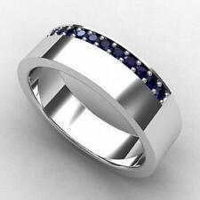 14k White Gold Natural Gemstone Sapphire Ring, Handmade Ring, Engagement Ring