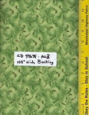 """CD-49639-A03, 108"""" EXTRA WIDE QUILT BACKING, FERNS LIME GREEN, 100% COTTON, BTY"""