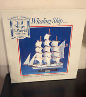 """Heritage Mint Tall Ships of the World Whaling  15.5"""" Wood Ship Model In Box"""
