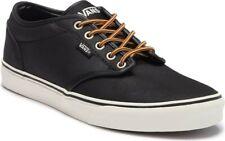 Vans Atwood Leather Black Marshmallow Skateboarding Shoes Men's Size 10.5
