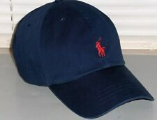 POLO RALPH LAUREN Men's Pony BIG & TALL Baseball Cap, Sport Hat, Navy Blue, NWT