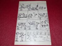 [Comic Zeichnung Humor Presse] Metall / Bogen Original Comic Signiert Kinder