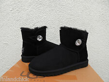 UGG MINI BAILEY BLING BLACK SUEDE/ SHEEPSKIN BOOTS, WOMENS US 10/ EUR 41 ~NIB