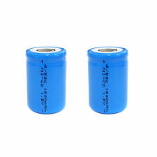2 pcs 4/5 Sub C SC 1600mAh 1.2V Ni-Cd rechargeable Battery Cell Flat Top Blue
