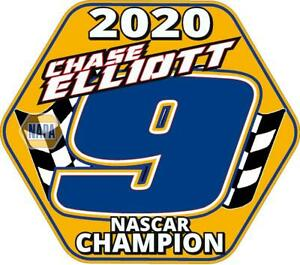 NEW FOR 2020 #9 Chase Elliott Champion Racing Sticker Decal - SM thru XL