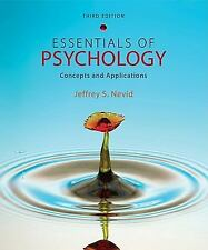 Essentials of Psychology : Concepts and Applications by Nevid - Grt Condition 1$