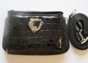 Brighton Later Gator Medium Wallet -leather black alligator charm crystals strap