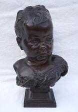 Authentic Boudeur Sulky Child J B Carpeaux Bronze Signed France 19th C