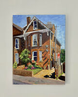 "Original Oil Painting "" The Old House"" On Canvas 30x40cm"