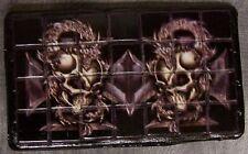 Tiled Belt Buckle Twin Dragon Skulls NEW