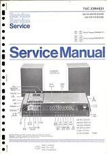 Philips  Original Service Manual für  TAC 22 RH 851