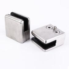 4pcs Soporte para sostener vidrio de acero inoxidable pinzas baldas 8,5-10mm