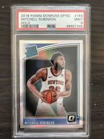 2018-19 Donruss Optic Mitchell Robinson Holo PSA 9 Rookie New York Knicks RC