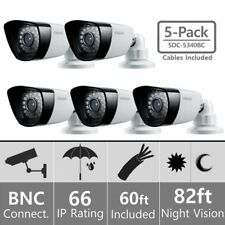 SET 5 Samsung SDC-5340BCN WeatherProof Camera CCTV Night Vision + Cable sdc-5340