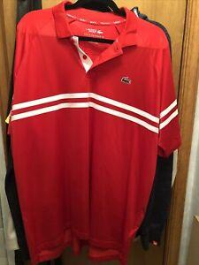 lacoste novak djokovic french open polo Shirt size 7 XXL NWT