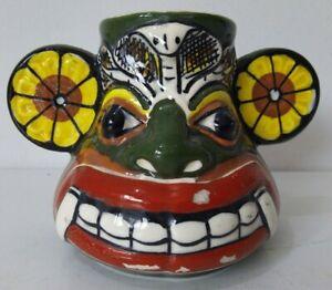 Vintage Lakpigan Sri Lankan Pot/Vase Cobra Hand Painted Asian Colourful Pottery