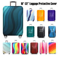 """18-32"""" Strips Travel Suitcase Luggage Cover Elastic Anti-Scratch Dust Protector"""