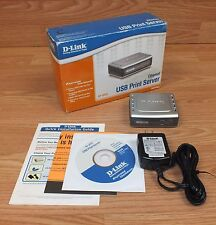 D-Link (DP-301U) Wired 10/100 Fast Ethernet USB Print Server w/ Power Supply