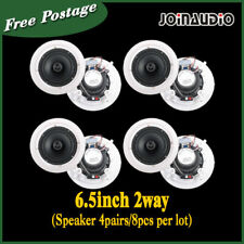 "4Pairs 8x30W  High Quality  6.5"" Ceiling Speaker 100V White Church/School/Hall"