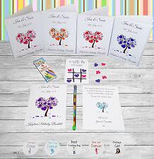 Personalizzata Bambini Wedding attività Pack LIBRO CUORE ALBERO ab27