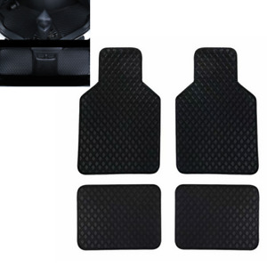 4Pcs 3D PU leather Front And Rear Floor Mats Full Set Dustproof Fit For Car SUV