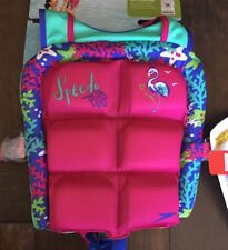 NWT Girls Speedo Water Skeeter Learn To Swim Life Vest Jacket 30-50lbs