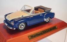 Atlas DDR 1/43 Wartburg 311-2 Cabriolet blau/beige in Plexi-Box #2112