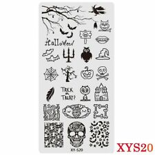 Nail Art Stamping Plate Image Halloween Pumpkins Bats Witch Skull Owl (XY-S20)