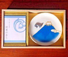 Japanese Incense Gift set, lily of valley Incenes & Mt.fuji Incense holder blue