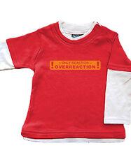 Babybugz Skate Layered Top Shirt Baumwolle Pullover NEU rot react 6-12/12-18 Mo