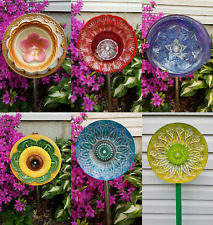Handmade 3D Glass Flower Yard Art Unique Compare to $75 on SALE 100% for Charity