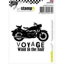 Traveling By Motorcycle SMI0078E - Carabelle Studio Cling Stamp