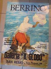 1983 POSTE MANIFESTO MARIO BERRINO di ALASSIO IN GALLERIA IL GLOBO SANREMO (MAN)