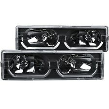 Anzo Crystal Headlights w/ Low-Brow Black 88-98 Chevy/Gmc C/K1500/2500 #111299 (Fits: Gmc)