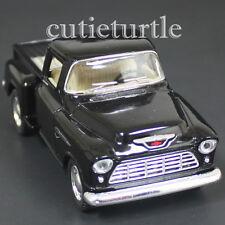 Kinsmart 1955 Chevy Stepside 3100 Pick Up Truck 1:32 Diecast Toy KT5330 Black