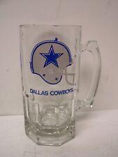 NFL DALLAS COWBOYS Large Glass Mug 1990 Slim Jim Collectors Edition EXC COND