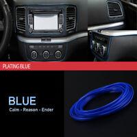 1x 5M Line Car Van Interior Decor Blue Edge Door Panel Accessories Molding New