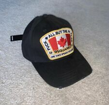 Dsquared Hat DSQ2 ICON Cap *SUMMER 2020* Black One Size Unisex Distressed