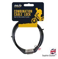 Halfords 90cm Cable Lock Combination 4 Digit Locking NEW FREE UK POSTAGE NEW